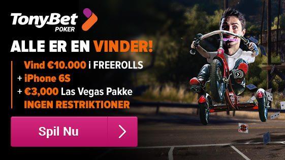 Freeroll dig til Las Vegas-eventyr og iPhones med TonyBet
