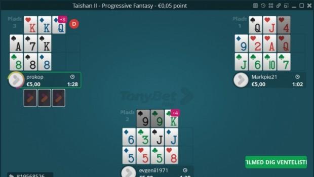 Begrænset tilbud: Få €10 gratis til at spille Open Face Chinese hos TonyBet Poker