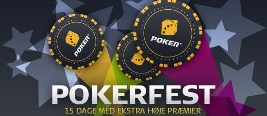 Danske Spils Pokerfest med to millioner i puljen begynder i dag