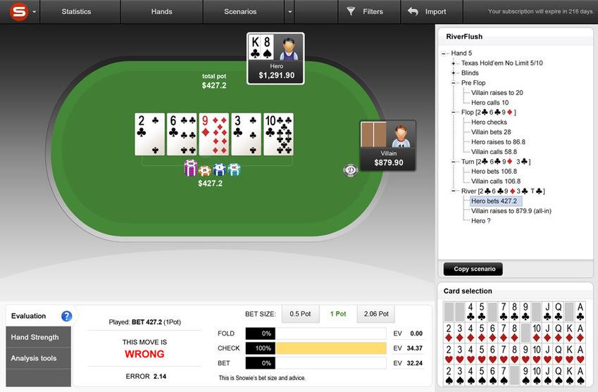 PokerSnowie_haand1